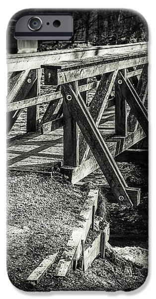 the wooden bridge iPhone Case by Hannes Cmarits