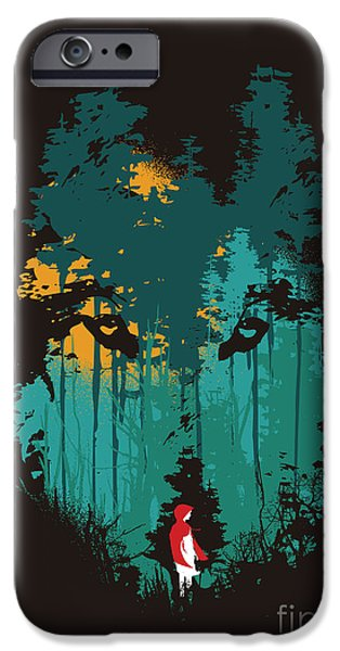 Horror Digital Art iPhone Cases - The woods belong to me iPhone Case by Budi Satria Kwan