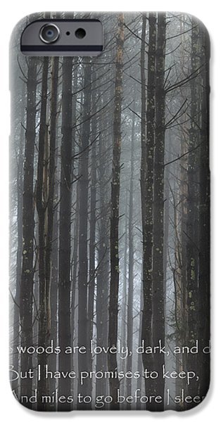 Southern New England iPhone Cases - The Woods iPhone Case by Bill  Wakeley