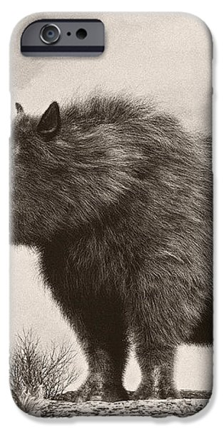 The Woolly Rhinoceros Is An Extinct iPhone Case by Philip Brownlow