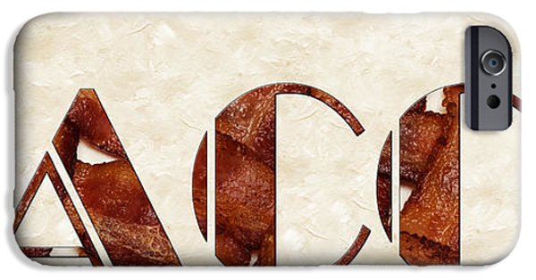 Basket iPhone Cases - The Word Is Bacon iPhone Case by Andee Design