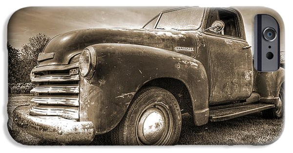 Monotone iPhone Cases - The Workhorse in Sepia - 1953 Chevy Truck iPhone Case by Gill Billington