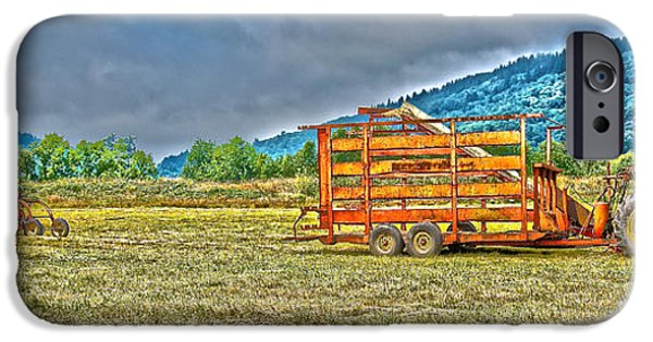 Machinery iPhone Cases - The Working Field iPhone Case by Richard J Cassato