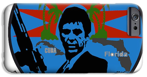 Al Pacino Photographs iPhone Cases - The world is mine iPhone Case by Guido Prussia
