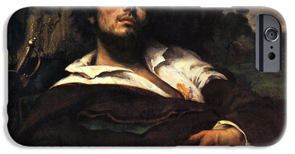 Concept Paintings iPhone Cases - The Wounded Man iPhone Case by Gustave Courbet