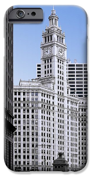 Interior Scene iPhone Cases - The Wrigley - A building that is pure Chicago iPhone Case by Christine Till