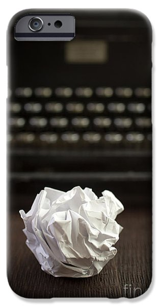 Frustration iPhone Cases - The Writer iPhone Case by Edward Fielding