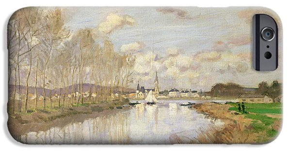 Sailboats iPhone Cases - The Yacht At Argenteuil, 1875 Oil On Canvas iPhone Case by Claude Monet