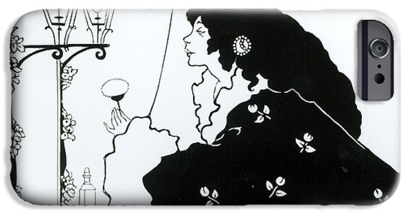Pen And Ink Illustration iPhone Cases - The Yellow Book  iPhone Case by Aubrey Beardsley