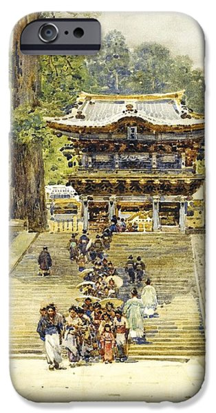1907 Paintings iPhone Cases - The Yomeimon Gate iPhone Case by Pg Reproductions