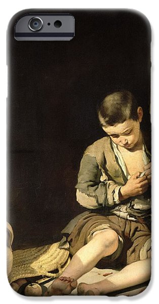 Begging iPhone Cases - The Young Beggar, C.1650 Oil On Canvas iPhone Case by Bartolome Esteban Murillo