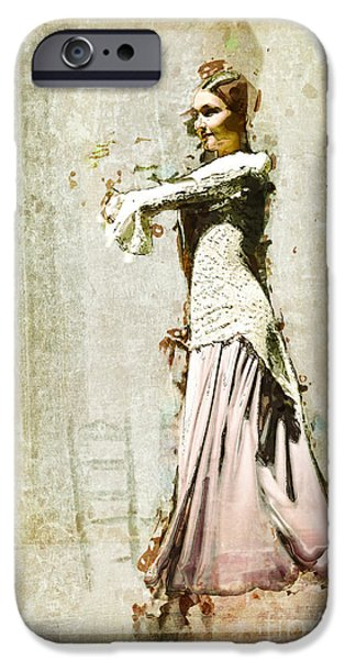 Young Digital iPhone Cases - The Young Dancer - Seville iPhone Case by Mary Machare