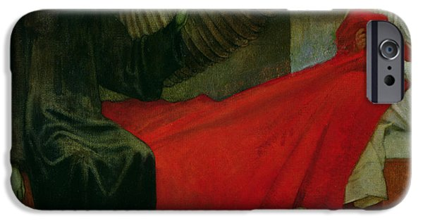 Sheets iPhone Cases - The Young Girl and Death iPhone Case by Marianne Stokes