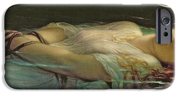 Young Paintings iPhone Cases - The Young Martyr iPhone Case by Hippolyte Delaroche