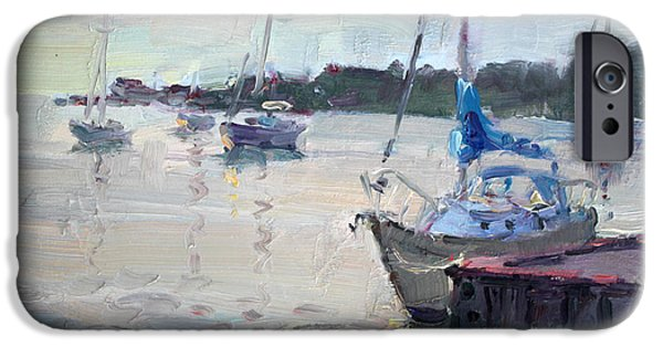 Village iPhone Cases - The Youngstown Yachts iPhone Case by Ylli Haruni
