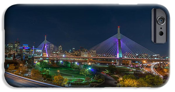City. Boston iPhone Cases - The Zakim Bridge iPhone Case by Bryan Xavier