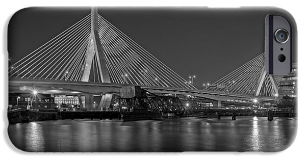 Best Sellers -  - Charles River iPhone Cases - The Zakim Bridge BW iPhone Case by Susan Candelario