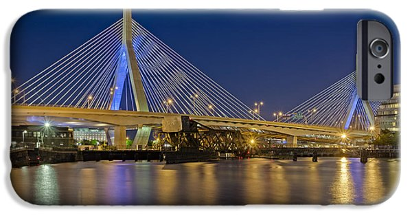 Charles River iPhone Cases - The Zakim Bridge iPhone Case by Susan Candelario