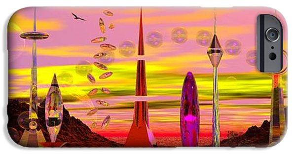 Moonscape iPhone Cases - The Zimberloo Of Zanadoo iPhone Case by Mark Blauhoefer