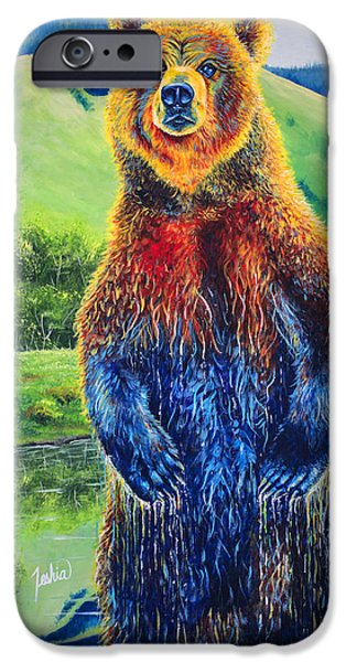 Kodiak iPhone Cases - The Zookeeper iPhone Case by Teshia Art