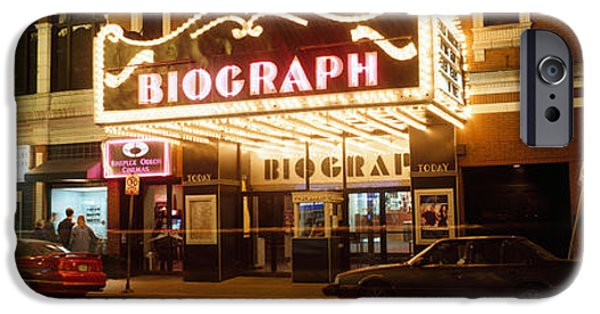 Lincoln iPhone Cases - Theater Lit Up At Night, Biograph iPhone Case by Panoramic Images