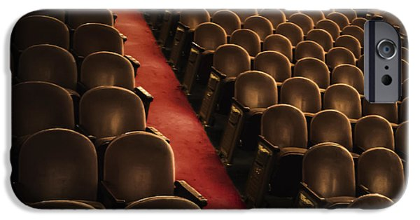 Red Carpet iPhone Cases - Theater Seats iPhone Case by Margie Hurwich