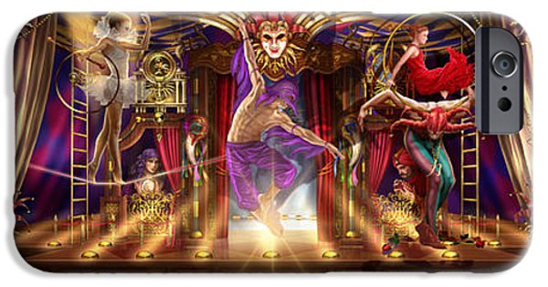 Gypsy Digital iPhone Cases - Theatre of the Absurd Triptych  iPhone Case by Ciro Marchetti