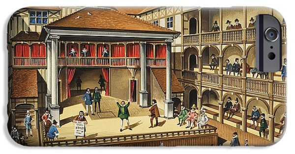 Balcony iPhone Cases - Theatre With Performance Of Hamlet Gouache On Paper iPhone Case by .