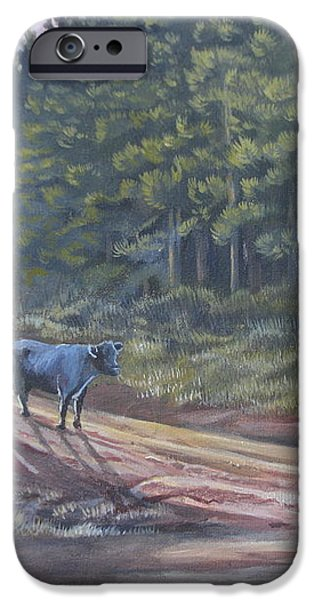 Them cows is out again iPhone Case by Callie Smith