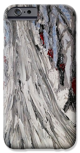 Tree Art Print iPhone Cases - Then iPhone Case by Kim Peto