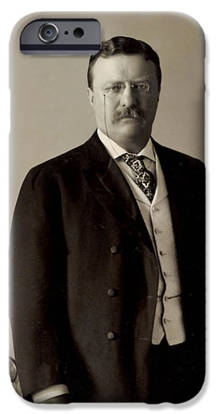 White House iPhone Cases - Theodore Roosevelt 1904 iPhone Case by Mountain Dreams