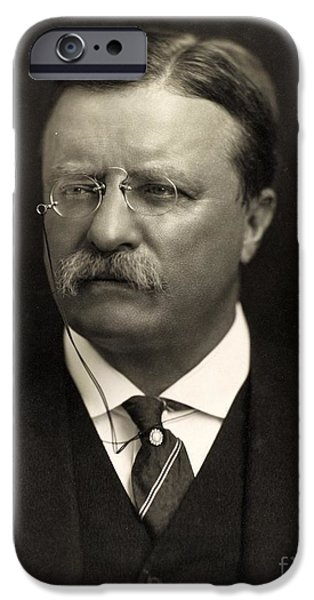 Politics iPhone Cases - Theodore Roosevelt iPhone Case by Unknown