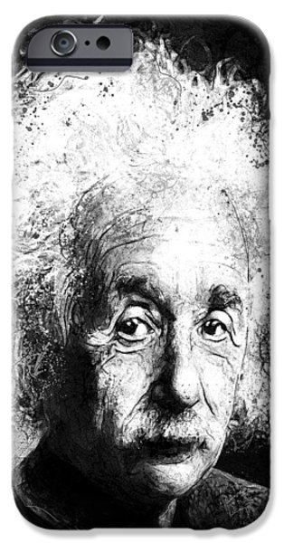 Celebrities Art iPhone Cases - Theoretically Speaking iPhone Case by Gary Bodnar