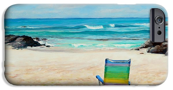 Beach Chair iPhone Cases - Therapy iPhone Case by Mary Giacomini