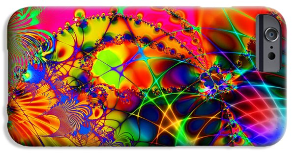 Fractals Fractal Digital Art iPhone Cases - There Are Places I Remember 20130510 iPhone Case by Wingsdomain Art and Photography