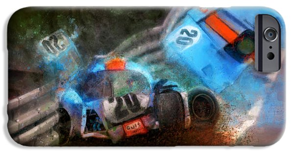 Porsche 917k iPhone Cases - There has been an accident iPhone Case by Alan Greene