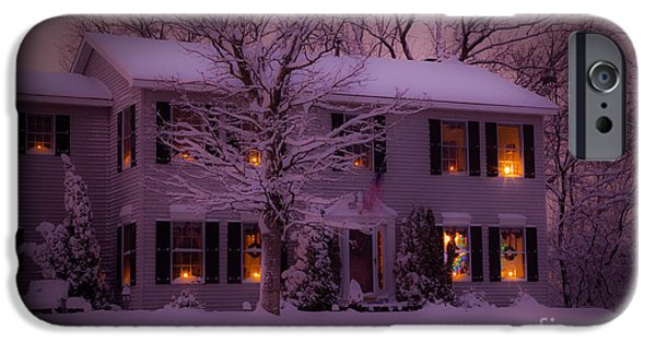 Winter Storm iPhone Cases - There is no place like home for the holidays iPhone Case by Wayne Moran