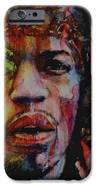 Singer-songwriter iPhone Cases - There Must Be Some Kind Of Way Out Of Here iPhone Case by Paul Lovering