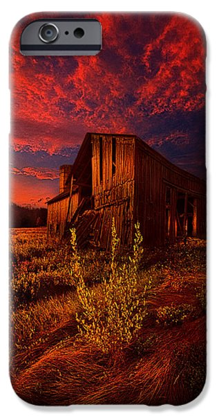 Storm iPhone Cases - There Was A Time iPhone Case by Phil Koch