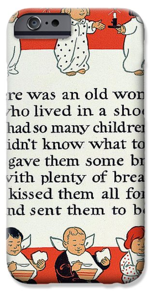 There was an old women who lived in a shoe iPhone Case by Mother Goose
