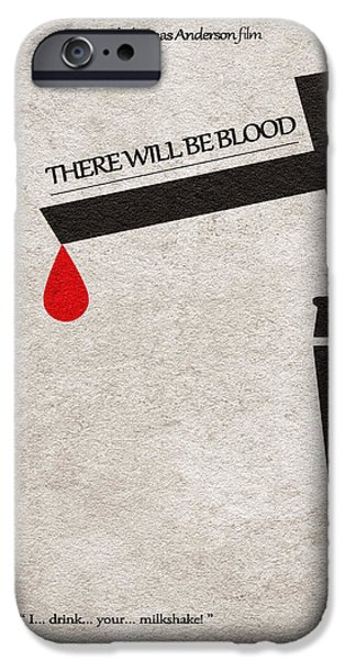 Nerd iPhone Cases - There Will Be Blood iPhone Case by Ayse Deniz