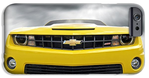 Dark Skies iPhone Cases - Theres a Storm Coming - Camaro SS iPhone Case by Gill Billington