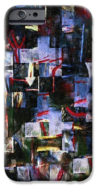 Abstract Expressionist iPhone Cases - The News of the World iPhone Case by RC deWinter