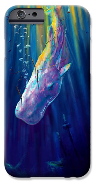 Epic iPhone Cases - Thew white whale iPhone Case by Yusniel Santos