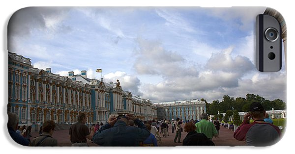 Catherine iPhone Cases - They Come to Catherine Palace - St. Petersburg - Russia iPhone Case by Madeline Ellis