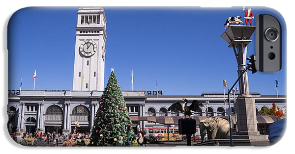 Surrealism Digital iPhone Cases - They Dont Do Christmas In San Francisco The Way We Do It In Kansas Betsy Jane DSC1745 with text iPhone Case by Wingsdomain Art and Photography