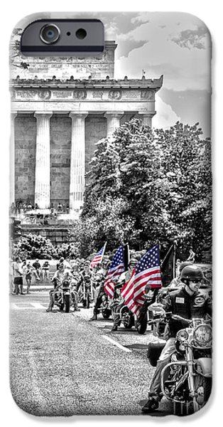 Old Glory iPhone Cases - They Will Not Forget iPhone Case by Tom Gari Gallery-Three-Photography