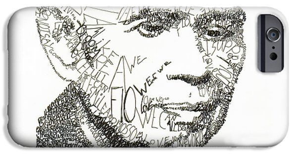 Buddhism Drawings iPhone Cases - Thich Nhat Hanh iPhone Case by Michael  Volpicelli