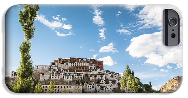 Tibetan Buddhism iPhone Cases - Thiksey Gompa  in Ladakh iPhone Case by Didier Marti