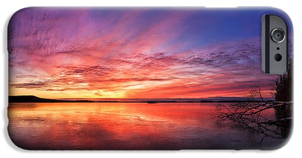 Downeast iPhone Cases - Thin Ice 1 Panorama iPhone Case by Bill Caldwell -        ABeautifulSky Photography